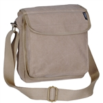 Cotton Canvas Small Messenger Bag