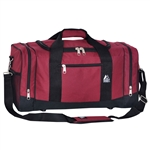 #020/BURGUNDY BLACK/CASE - 20-inch Duffel Bag - Case of 20 Duffel Bags