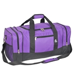 #025/DARK PURPLE BLACK/CASE - 25-inch Duffel Bag - Case of 20 Duffel Bags