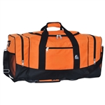 #025/ORANGE BLACK/CASE - 25-inch Duffel Bag - Case of 20 Duffel Bags