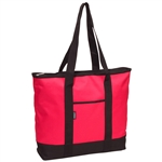 #1002DS/HOT PINK/CASE - Large Tote Bag - Case of 40 Large Tote Bags