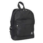 #10452/BLACK/CASE - Mini Backpack with Front Zippered Pocket - Case of 30 Backpacks