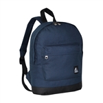 #10452/NAVY BLACK/CASE - Mini Backpack with Front Zippered Pocket - Case of 30 Backpacks