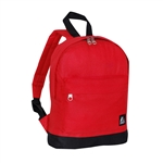 #10452/RED BLACK/CASE - Mini Backpack with Front Zippered Pocket - Case of 30 Backpacks