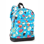 #10452P/DONUTS/CASE - Mini Pattern Backpack with Front Zippered Pocket - Case of 30 Backpacks