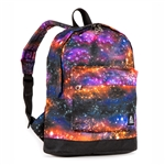 #10452P/GALAXY/CASE - Mini Pattern Backpack with Front Zippered Pocket - Case of 30 Backpacks