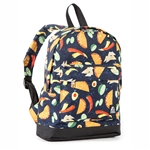 #10452P/TACOS/CASE - Mini Pattern Backpack with Front Zippered Pocket - Case of 30 Backpacks
