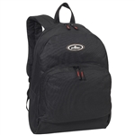 #1045A/BLACK/CASE - Classic Backpack with Front Organizer - Case of 30 Backpacks