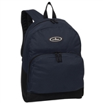 #1045A/NAVY BLACK/CASE - Classic Backpack with Front Organizer - Case of 30 Backpacks