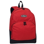 #1045A/RED BLACK/CASE - Classic Backpack with Front Organizer - Case of 30 Backpacks