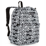 #2045P/BLACK WHITE IKAT/CASE - Classic Pattern Backpack - Case of 30 Backpacks