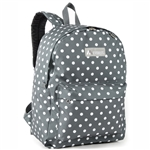 #2045P/GRAY WHITE DOT/CASE - Classic Pattern Backpack - Case of 30 Backpacks