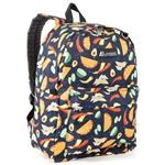 #2045P/TACOS/CASE - Classic Pattern Backpack - Case of 30 Backpacks