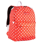 #2045P/TANGERINE WHITE DOTS/CASE - Classic Pattern Backpack - Case of 30 Backpacks