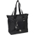 #1002DLX-BLACK - Zippered Bottom Compartment Large Tote Bag