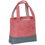 #1002TB-CORAL/GRAY - Trendy Tablet Tote Bag