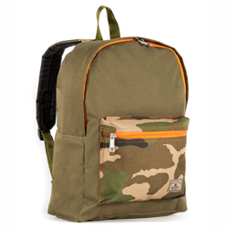 #1045CB-OLIVE/CAMO - Basic Color Block Backpack