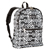 #1045KP-BLACK/WHITE IKAT - Basic Pattern Backpack