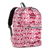 #1045KP-BURGUNDY/WHITE IKAT - Basic Pattern Backpack