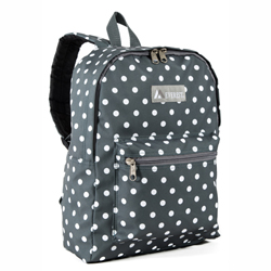 #1045KP-GRAY/WHITE DOTS - Basic Pattern Backpack