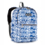 #1045KP-NAVY/WHITE IKAT - Basic Pattern Backpack