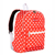 #1045KP-TANGERINE/WHITE DOTS - Basic Pattern Backpack