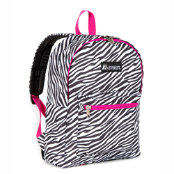 #1045KP-ZEBRA - Basic Pattern Backpack