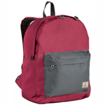 #2045CB-BURGUNDY/CHARCOAL - Classic Color Block Backpack