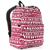 #2045P-BURGUNDY/WHITE ETHNIC - Classic Pattern Backpack