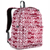 #2045P-BURGUNDY/WHITE IKAT - Classic Pattern Backpack