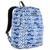 #2045P-NAVY/WHITE IKAT - Classic Pattern Backpack