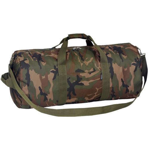 C30p 30 Inch Woodland Camo Round Duffel Bag