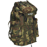#C8045D - Woodland Camo Hiking Backpack