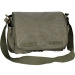 #CT073L - Large Cotton Canvas Messenger Bag