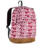 Suede Bottom Pattern Backpack