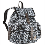 #RS01P-BLACK/WHITE IKAT - Pattern Rucksack