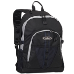 #3045W/NAVY GRAY BLACK/CASE - Large Storage Backpack with Organizer - Case of 30 Backpacks