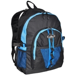 #3045W/ROYAL BLUE BLACK/CASE - Large Storage Backpack with Organizer - Case of 30 Backpacks