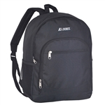 #6045/BLACK/CASE - Casual Backpack with Dual Side Mesh Pockets - Case of 30 Backpacks