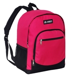#6045/HOT PINK/CASE - Casual Backpack with Dual Side Mesh Pockets - Case of 30 Backpacks