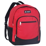 #6045/RED/CASE - Casual Backpack with Dual Side Mesh Pockets - Case of 30 Backpacks