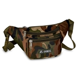 #C044KD/WOODLAND CAMO/CASE - Woodland Camouflage Waist Pack - Case of 50 Waist Packs