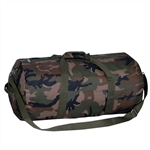 #23P/CAMO/CASE - 23-inch Woodland Camo Round Duffel Bag - Case of 40 Duffel Bags