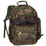 #C3045R/WOODLAND CAMO/CASE - Oversized Camouflage Backpack - Case of 20 Backpacks