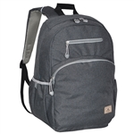 #R5045LT/CHARCOAL/CASE - Stylish Backpack with Laptop Storage - Case of 20 Backpacks