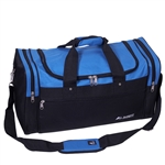 #S219/ROYAL BLUE BLACK/CASE - 21-inch Deluxe Duffel Bag - Case of 20 Duffel Bags