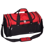 #S219/RED BLACK/CASE - 21-inch Deluxe Duffel Bag - Case of 20 Duffel Bags