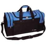 #S219L/ROYAL BLUE BLACK/CASE - 26-inch Deluxe Duffel Bag - Case of 20 Duffel Bags