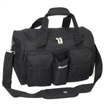 #S223/BLACK/CASE - 18-inch Gym Bag with Wet Pocket - Case of 20 Gym Bags