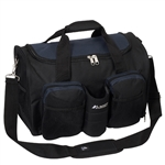 #S223/NAVY BLACK/CASE - 18-inch Gym Bag with Wet Pocket - Case of 20 Gym Bags